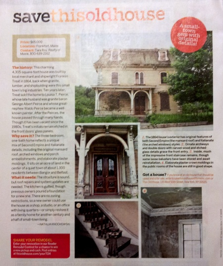 """Save This Old House""Jan/Feb 2013 Issue"
